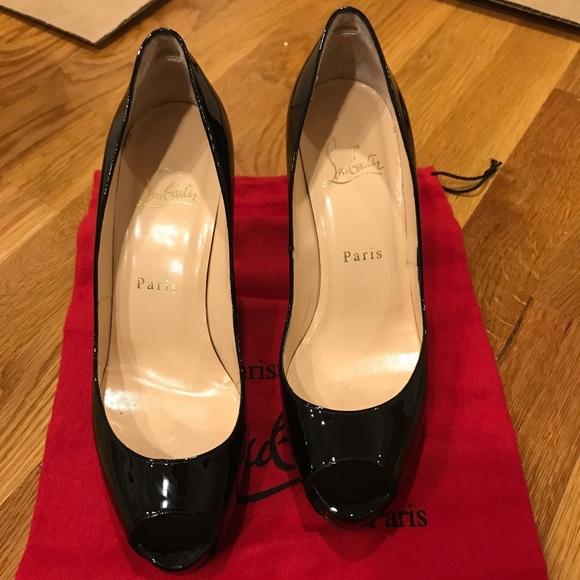 c1b0585dc5c7 Christian Louboutin Shoes - Christian Louboutin Prive 100 Patent open toe  pump